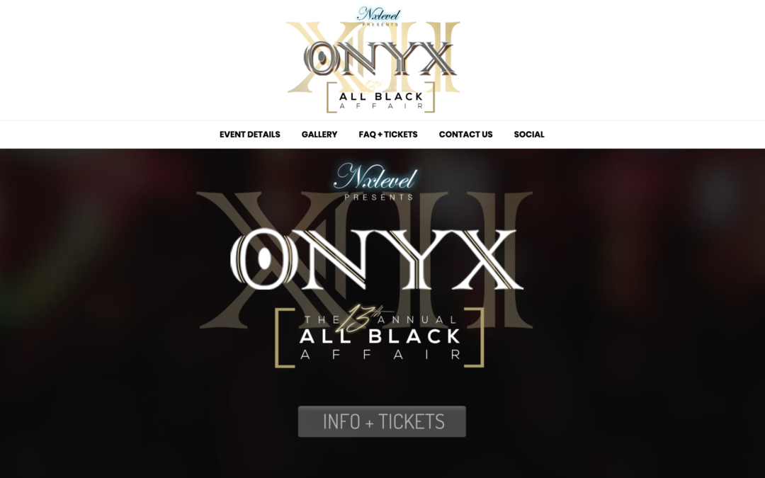 Nxlevel Entertainment: ONYX All Black Affair